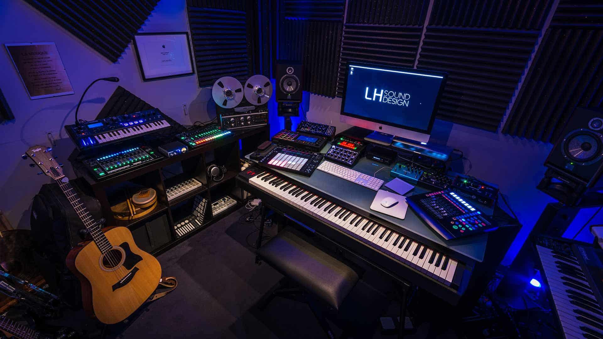 Studio de composition musicale, dj lyon, LHSD, LH sound design, Ludovic Hautevelle