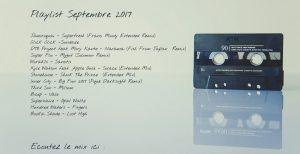Playlist septembre 2017
