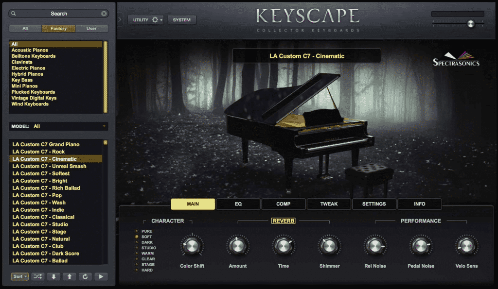 Test Piano VST KEYSCAPE de Spectrasonics