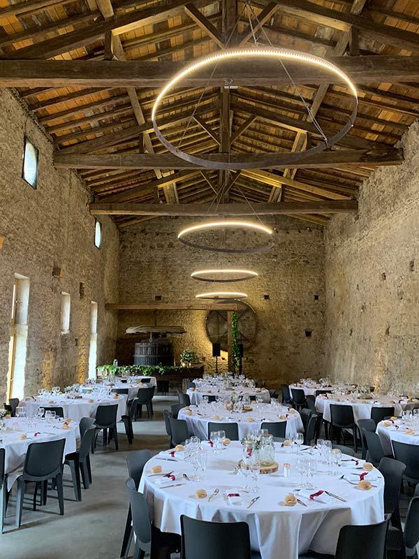 Salle repas mariage château de la Gallée