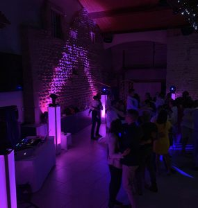 Dancefloor mariage Clos du Puits déco salle