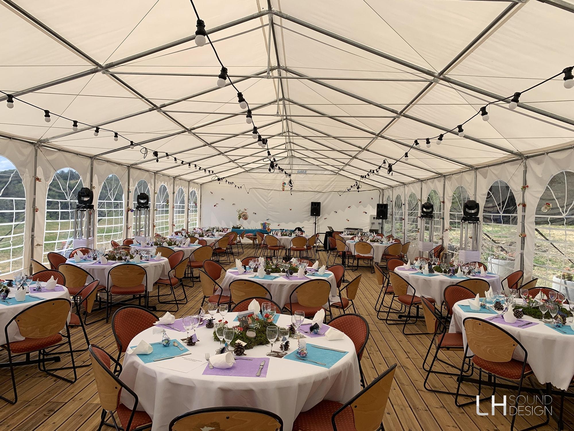 Salle de réception domaine de Saint Franc, dj lyon, LHSD, LH sound design, Ludovic Hautevelle, dj mariage